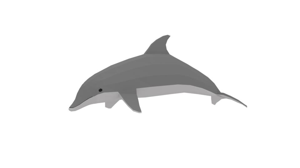 cartoon dolphin 3D