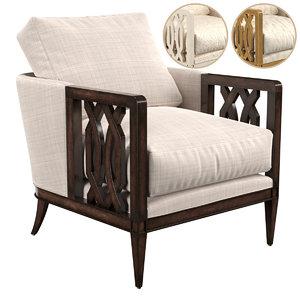 3D john richard seat chair model
