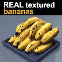 texturized bananas 3D model