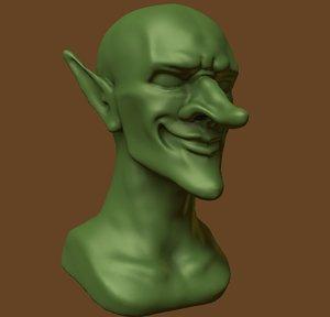 3D model smug goblin