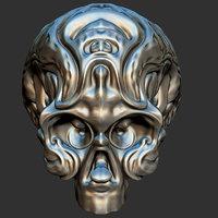 voodoo ornamental skull - 3D