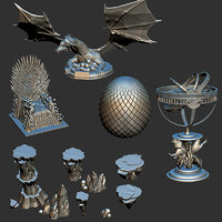 thrones - eggs rock model