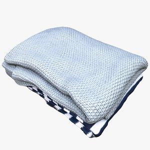 blanket cloth bedclothes 3D