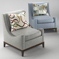 3D classic armchair upholstery ben model