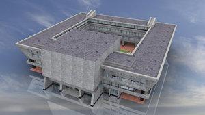 3D soviet building city hall