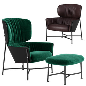 3D model caristo armchair