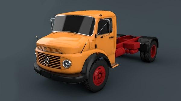ercedes benz truck 3D model