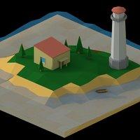 landscape nature island model