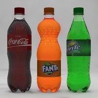 3D soda bottles