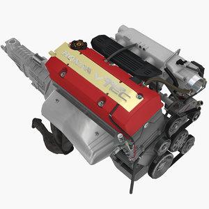 honda f22c1 2 2l 3D model