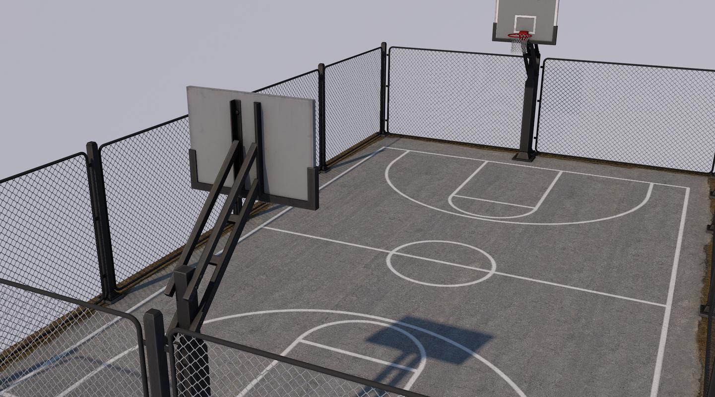 3D basketball stadium ball model