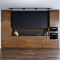 kitchen leicht miele 3D model