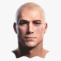 3D photorealistic human head realistic model