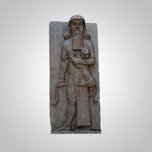 sculpture hero mastering lion 3D model
