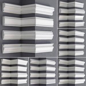 3D linear moldings 24 pieces