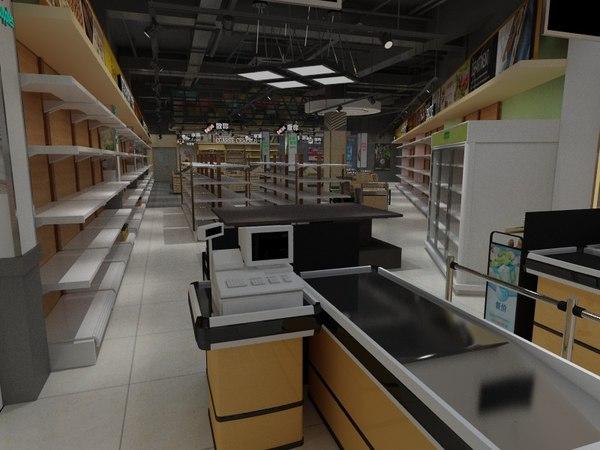 store shopping 3D model