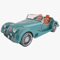 3D convertible car morgan 6