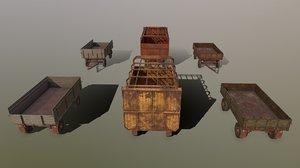 tractor carts 3D model