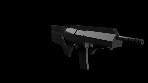 3D automatic rifle model
