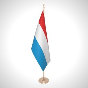 luxembourg flag 3D model