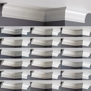 linear cornice 45 pieces 3D model