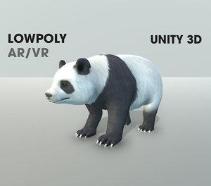 3D panda ar vr fully rigged