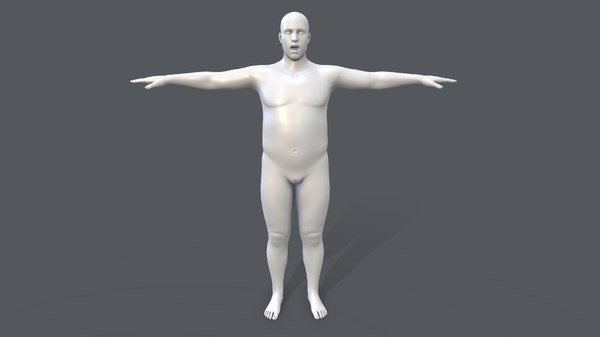 male basemesh 3D