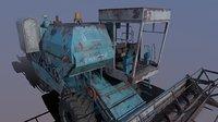 3D model soviet harvester enisey-1200