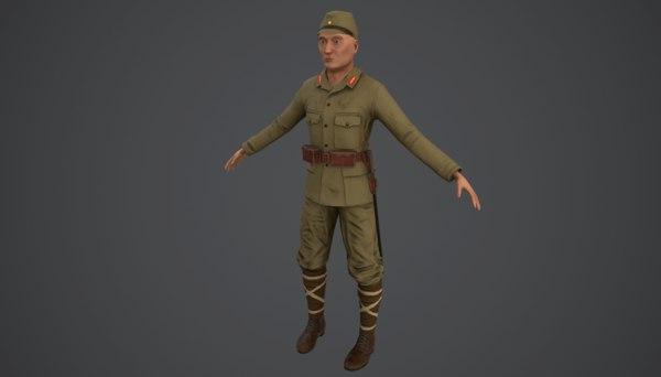 soldier japan japanese 3D