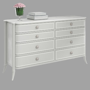 double french grey dresser 3D model