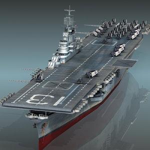 uss franklin cv-13 cv 3D model