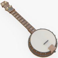 banjo instrument music 3D model