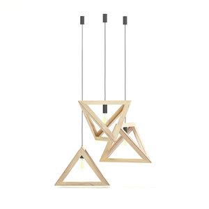 3D hanging wooden lamp model