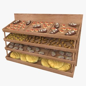 bread supermarket shelving model