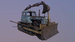 3D tractor dt-75 model