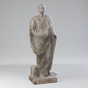 3D toga statue model