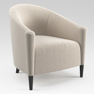 3D model greco armchair sofa chair