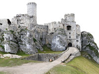 3D castle ruins 16k model