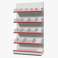 gondola store shelving model
