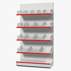 gondola store shelving model