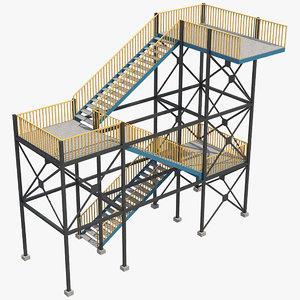 industrial stair 1 3D
