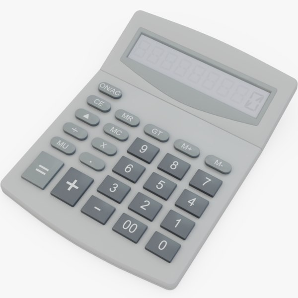 3D calculator office
