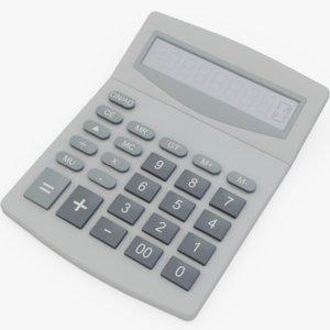 3D calculator office