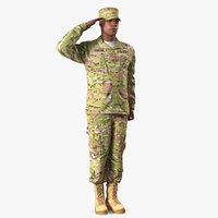 army american soldier camo 3D model