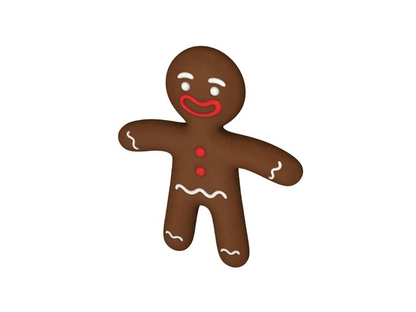 gingerbread cartoon 3D
