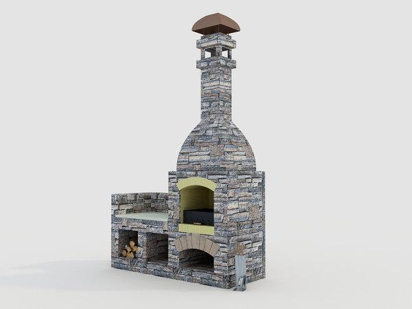 original stone grill 3D model