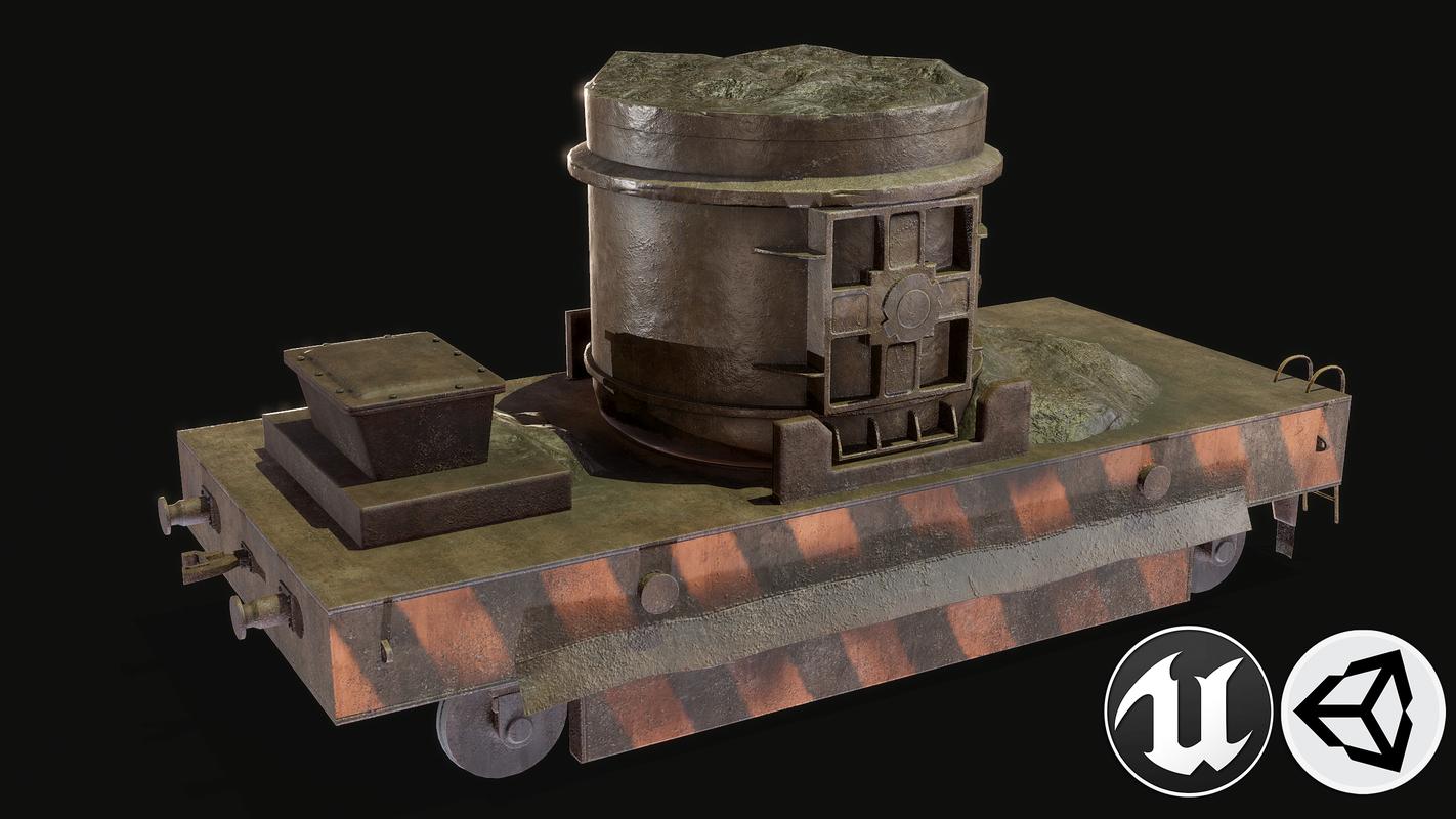 3D trolley pbr model