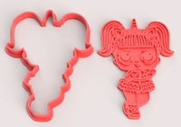 lol doll cookie cutters 3D model