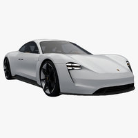 Porsche Mission E Concept 2015 Low Poly