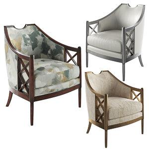 3D salon chair john richard model